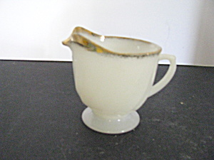 Vintage Fire King 8 Ounce Swirl Creamer