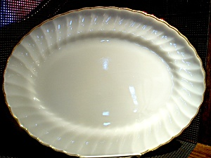 Vintage Fire King Swirl Serving Platter