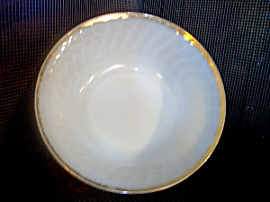 Vintage Fire King Golden Shell 5 Inch Sauce Dish