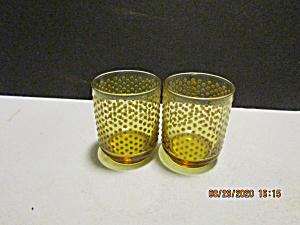 Vintage Libbey Min Century Encore Raised Dot Glasses