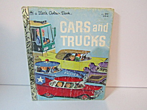 Vintage Little Golden Book Cars And Trucks