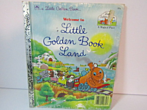 Vintage Golden Book Welcome To Little Golden Book Land