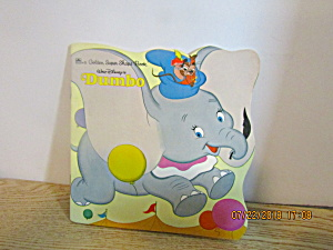 Vintage Disney Golden Books Shape Book Dumbo