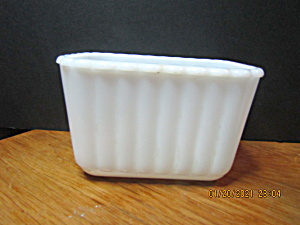 Vintage Hazel Atlas Milk Glass Large Refrigerator Dish