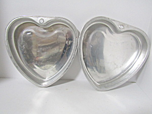 Vintage Heart Shaped Cake Pans
