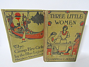 Vintage Three Little Women & Campfire Girls Blue Lagoon