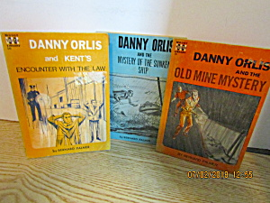 Vintage Three Book Set Of Danny Orlis Mysteries