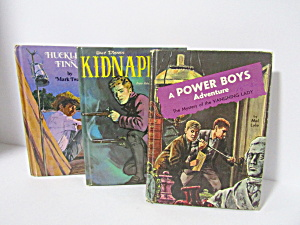 Vintage Junior Boys Adventures Book Set