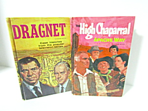 Tv Adventures Books Dragnet & High Chaparral