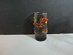 Vintage Yellow Orange Fall Floral Juice Glass (Image1)