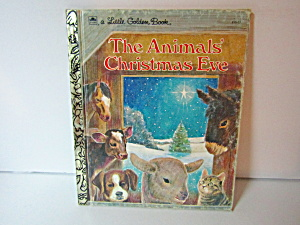 Vintage Little Golden Book The Animals Christmas Eve