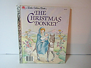 Vintage Little Golden Book The Christmas Donkey