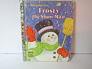 Vintage Little Golden Book Frosty The Snow Man #4