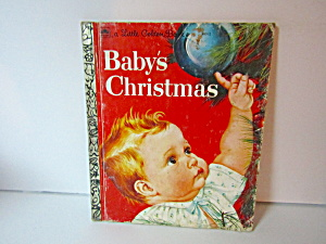 Vintage Little Golden Book Baby's Christmas