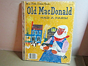 Vintage Little Golden Book Old Macdonald Had A Farm
