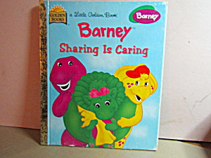 Little Golden Book Barney Sharing Is Caring