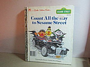 Vintage Golden Book Count All The Way To Sesame Street