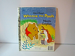 Vintage Golden Book Winnie The Pooh Meets Gopher