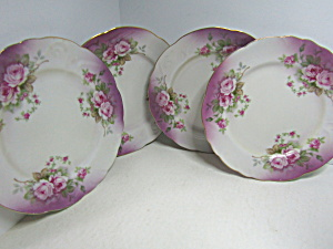 Vintage Leafton Heavenly Rose Salad Plates