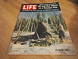Vintage Life Magazine April 12,1963 (Image1)