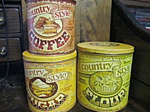 Vintage Country Style Canister Set