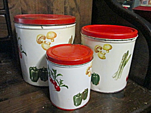 Vintage Country Decoware Canister Set