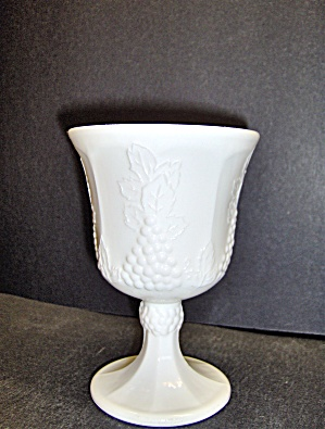Milk Glass Footed Goblet Harvest By Colony