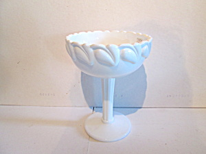 Vintage Tall Milk Glass Pedestal Compote /bowl