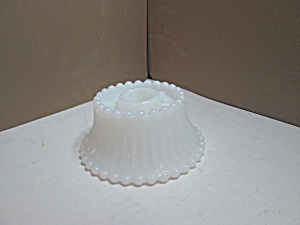 Milk Glass Tapered Candle Hurricane Lamp Holded