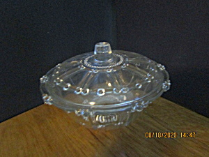 Vintage Kig Indonesia Glass Covered Candy Dish