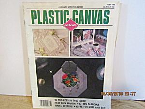 Vintage Magazine Plastic Canvas June 1990 (Image1)