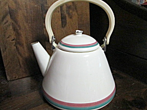Vintage Pfaltzgraff Juniper Metalware Tea Kettle