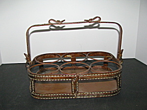 Vintage Metalware Crate Bottle Or Glass Carrier