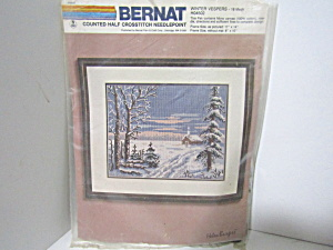 Vintage Bernat Counted Half Crosstitch Winter Vespers