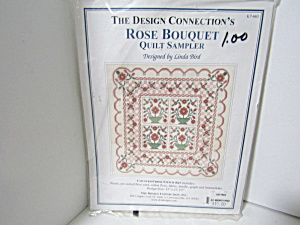 Cross Stitch Rose Bouquet Quilt Sampler Kit