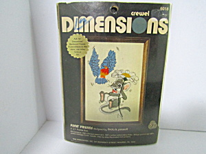 Vintage Dimesions Crewel Kit Flyin' Friends