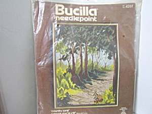 Bucilla Crewel Needlepoint Kit Country Lane