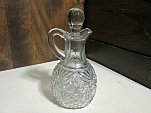 Vintage Anchor Hocking Clear Pressed Glass Cruet