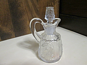 Vintage (Maybe Tiara Glass) Vinegar/oil Cruet