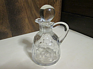 Vintage Formed Glass Oil/vinegar Cruet