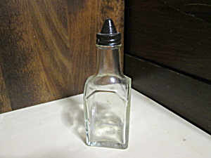 Vintage Gemco Square Vinegar/oil Cruet Brown Cap