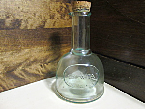 Vintage Colavita Green Glass Oil/vineger Cruet