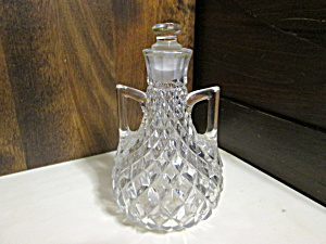 Vintage Diamond Glass Double Handled Decanter
