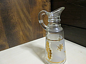 Libbey Gold Leaf Oil/vinegar Cruet