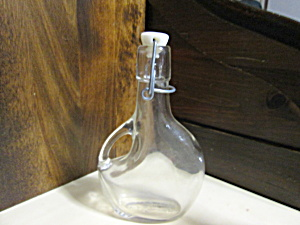 Vintage Basquaise Flask Bottle With Hermetic Top