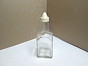 Vintage Gemco Square Vinegar/oil Cruet White Cap