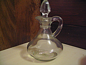 Vintage Anchor Hocking Clear Vinegar/oil Cruet