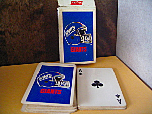 Vintage Playing Cards NFL Team Giants (Image1)