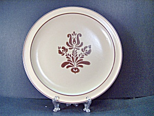 Vintage Brown Village Pfaltzgraff Dinner Plate
