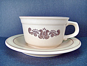 Pfaltzgraff Brown Village Cup & Saucer Set
